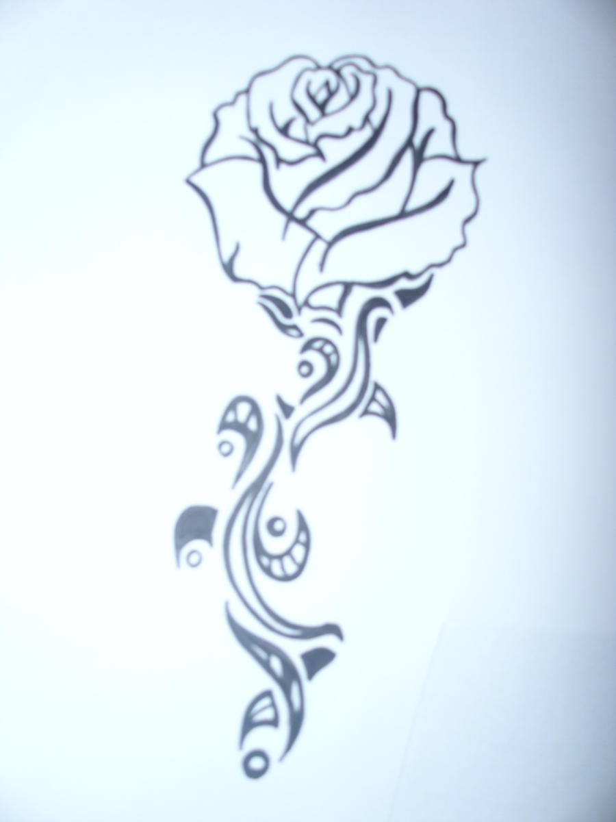Rose an thorn by go play on deviantart for Rose with thorns tattoo