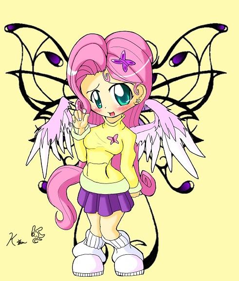 Mlp Fluttershy Fan Art clipart Fluttershy Human Chibi
