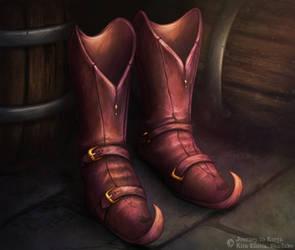 Journey to Ecrya: Strange Leather Shoes by KiraElusia