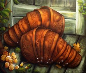 Journey to Ecrya: Stiff Leather Armament by KiraElusia