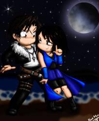 Chibi Squall and Rinoa by shiken