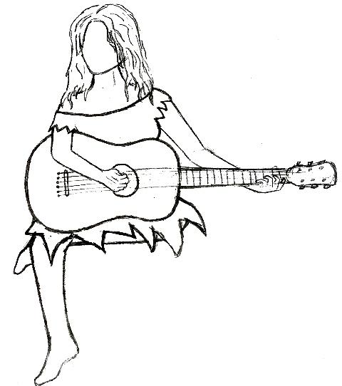 Guitar Angel Tattoo By Danibobani
