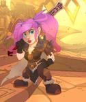 Warcraft - Gnom warrior for @Gozerean