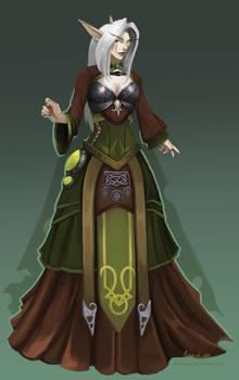 Night Elf Ball dress celtic