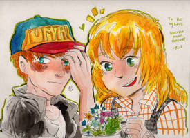 Harvest Moon - Clair and Gray by Rin-Uzuki