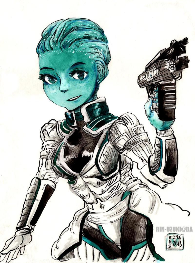 Mass Effect - Liara T'soni commission by Rin-Uzuki