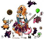 Rosalyn the Hero - Okage sticker pack