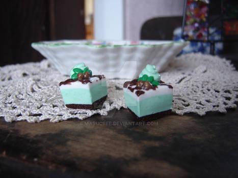 Mint Choc Slice Earrings
