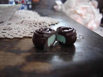 Mint Chocolate Earrings