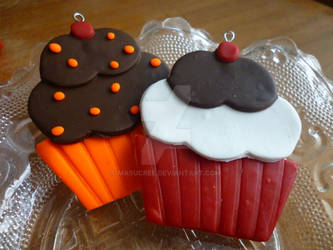 Orange Cho Chip and Red Velvert Cupcakes