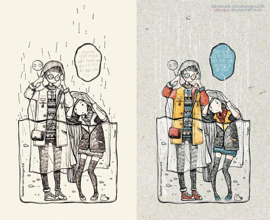 Rain .. by tamypu