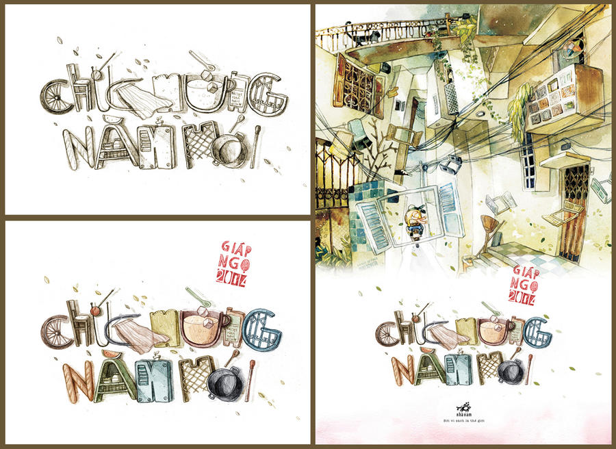 Calendar Illustration Job : Typo and illustration for my calendar by tamypu on