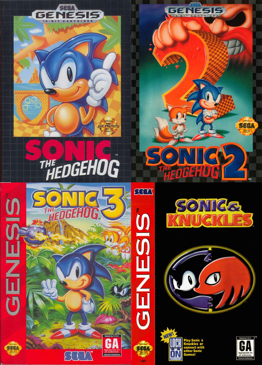 Sonic The Hedgehog Genesis Box Art Collage By Marioandsonic999 On Deviantart