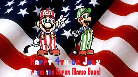 Super Mario Bros - 4th of July wallpaper