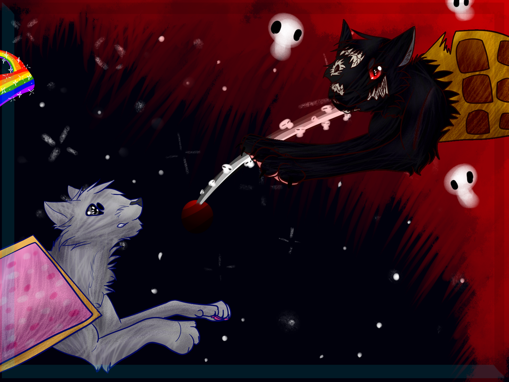 nyan cat vs tac nayn by anosofa on deviantart