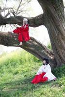 Inuyasha and kikyo by Maho-Urei