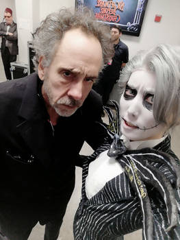 Selfie with Tim Burton