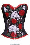 Gothic skull rose corset