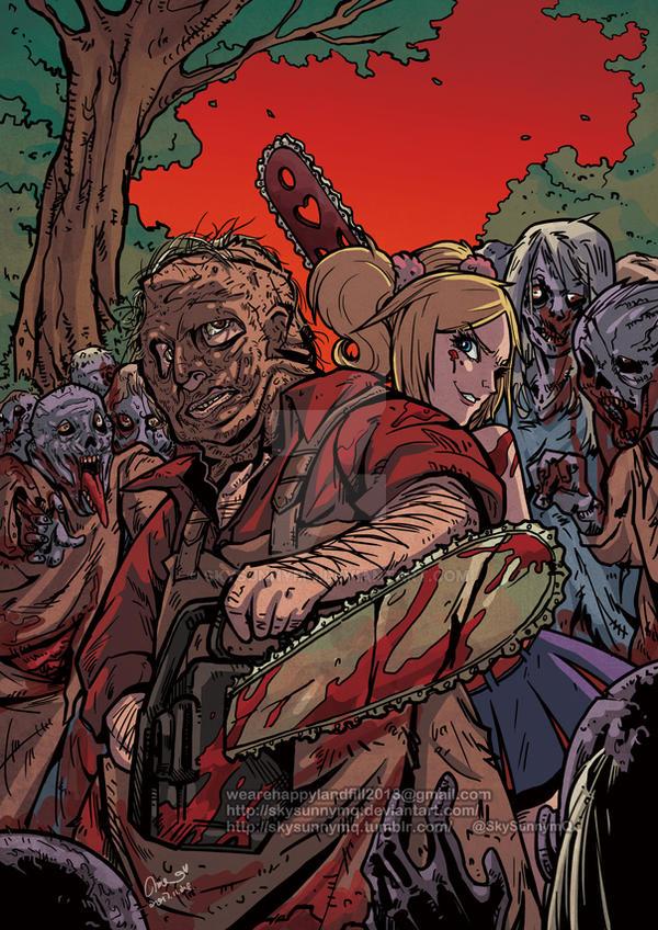 Texas Chainsaw Massacre x Lollipop Chainsaw by SkySunnymQ