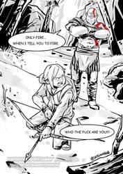 Ellie and Kratos ink