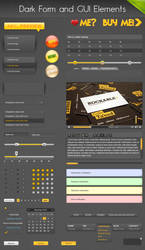 Dark Form and GUI Elements by tommiek