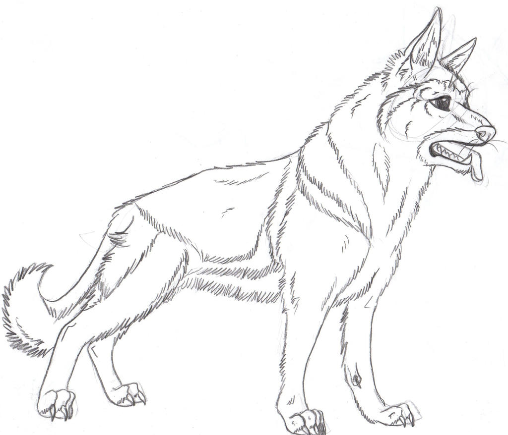 german shepherd puppy coloring pages - german shepered cute coloring pages