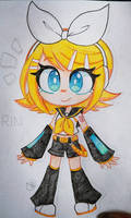 Rin Kagamine (traditional colored sketch)
