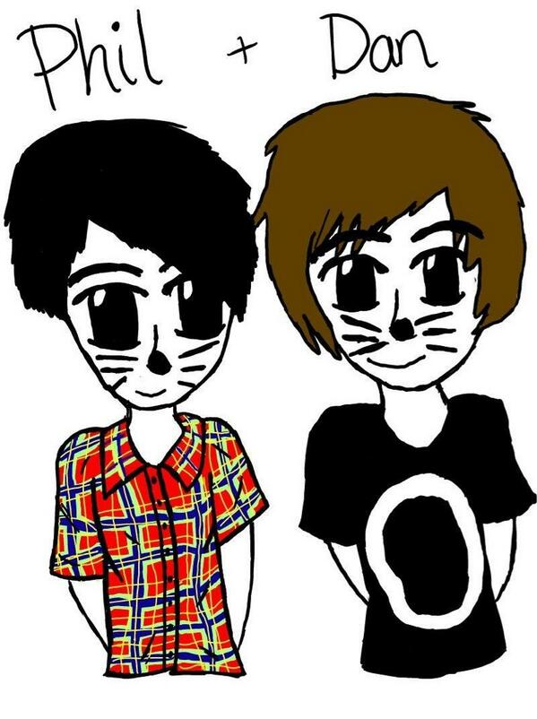 Dan and Phil by MyCookieCrumbled