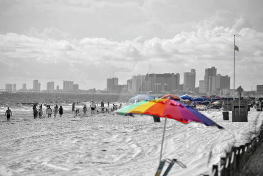 Beach in semi-color