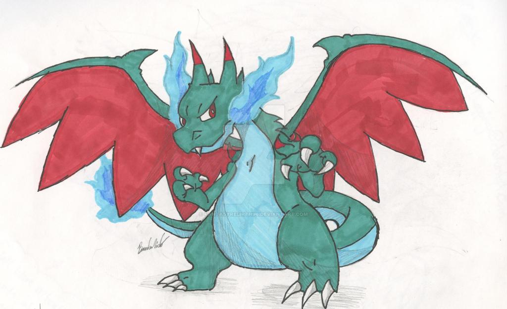 Shiny MegaCharizard X by FantasyRebirth96