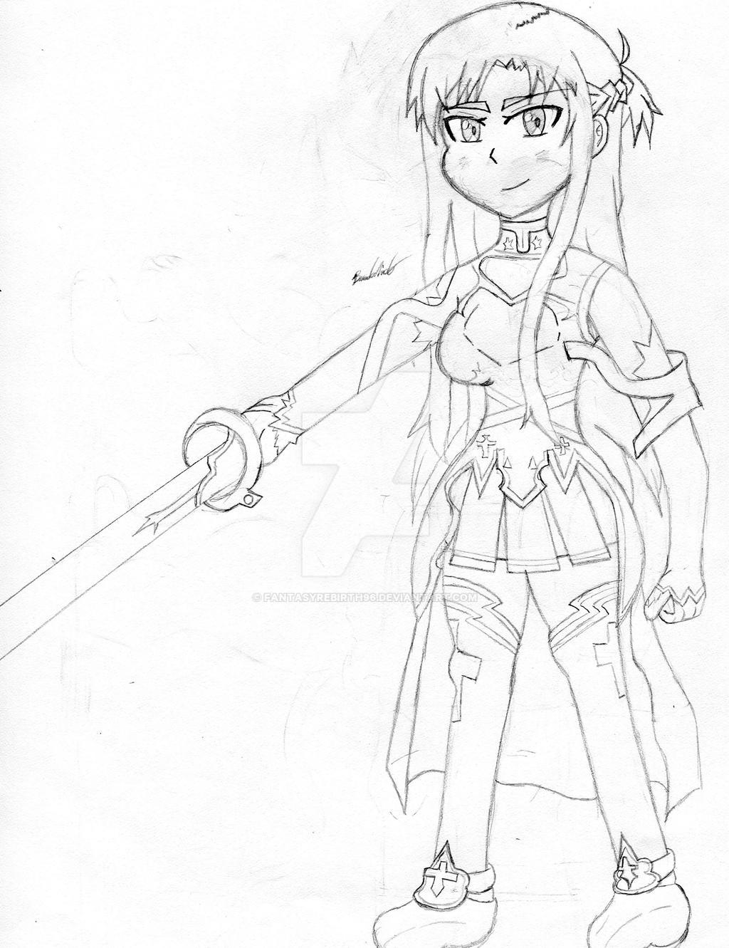 Asuna Drawing (Plus Update) by FantasyRebirth96