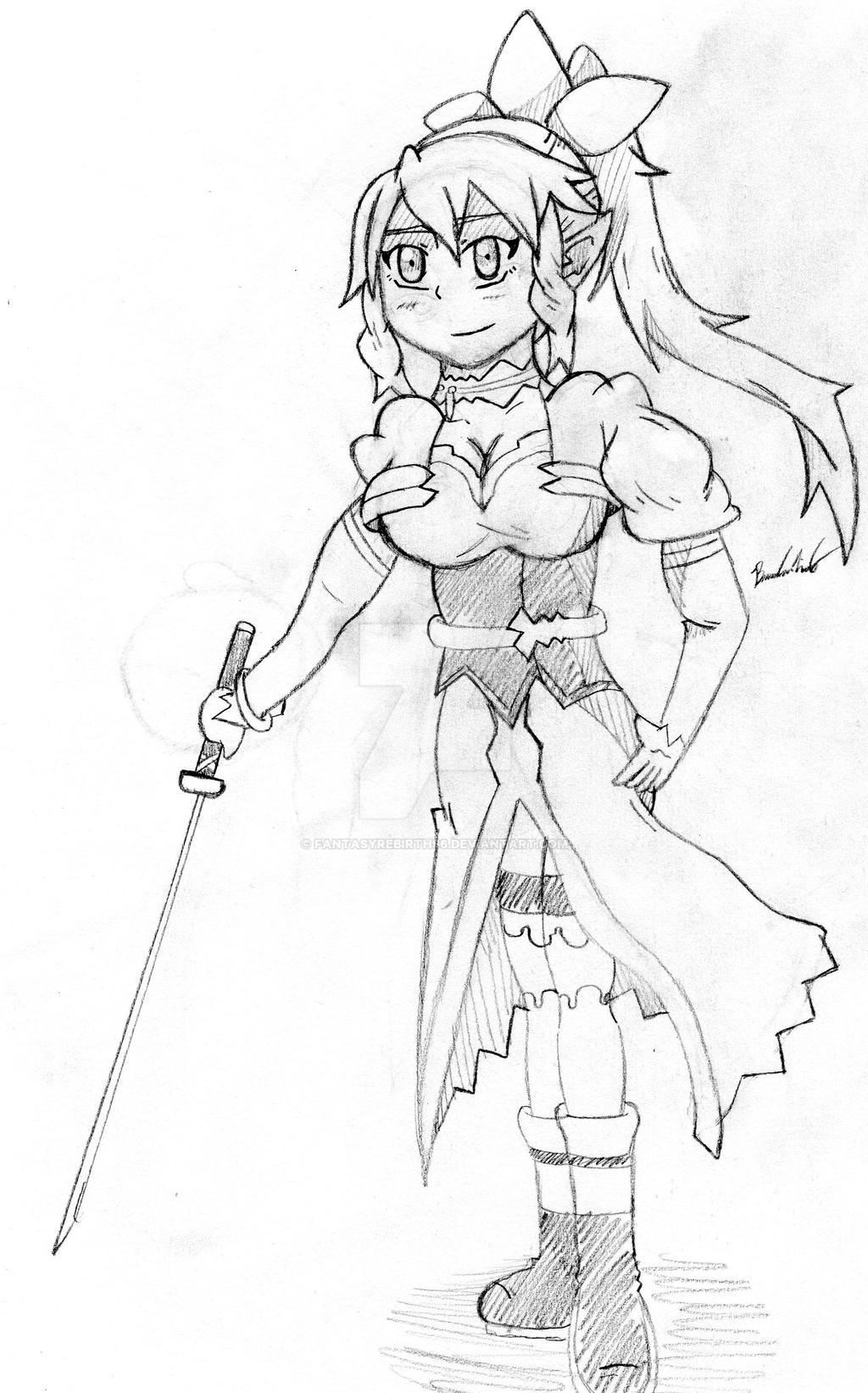Leafa doodle2 by FantasyRebirth96