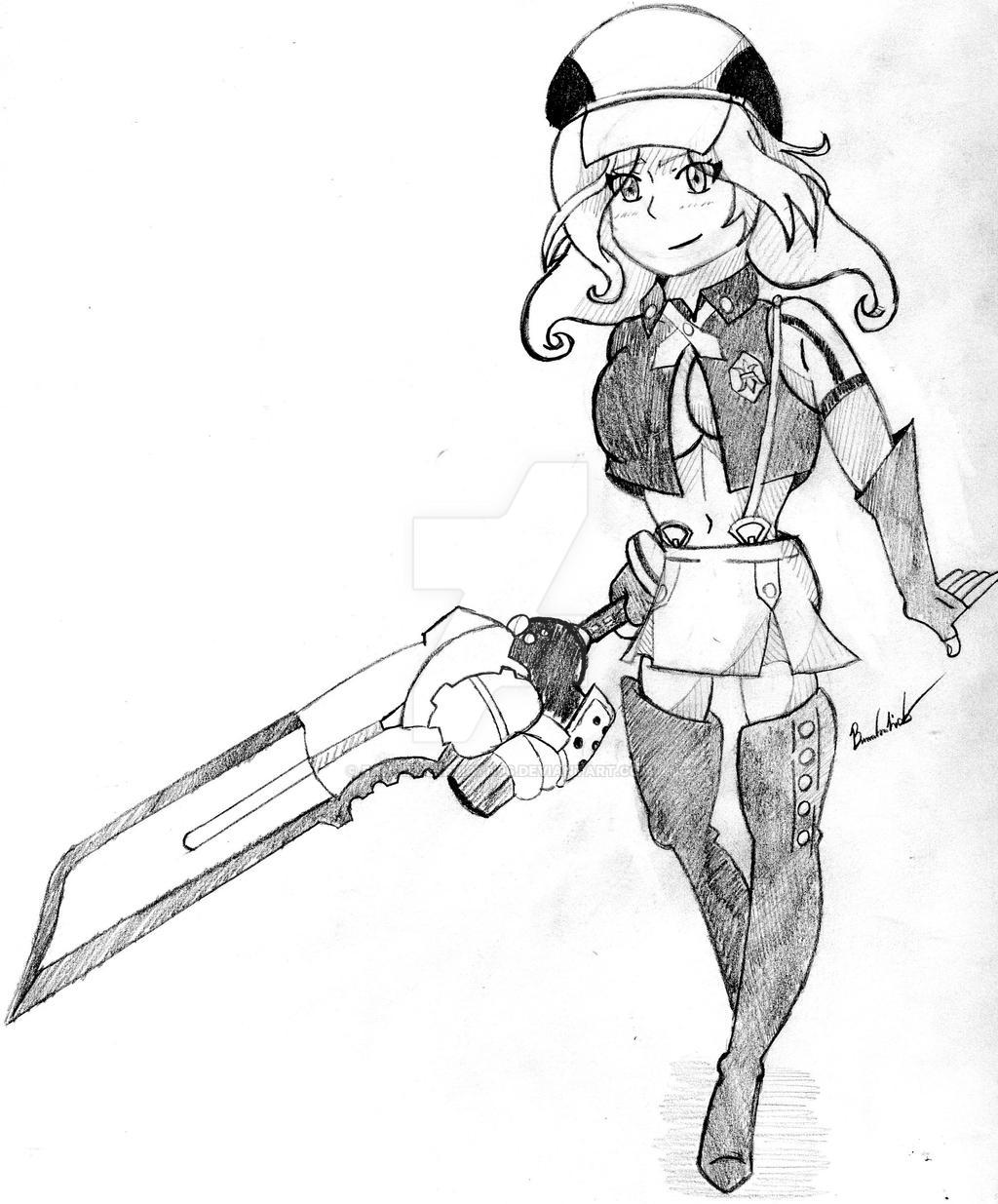 Alisa Sketch by FantasyRebirth96