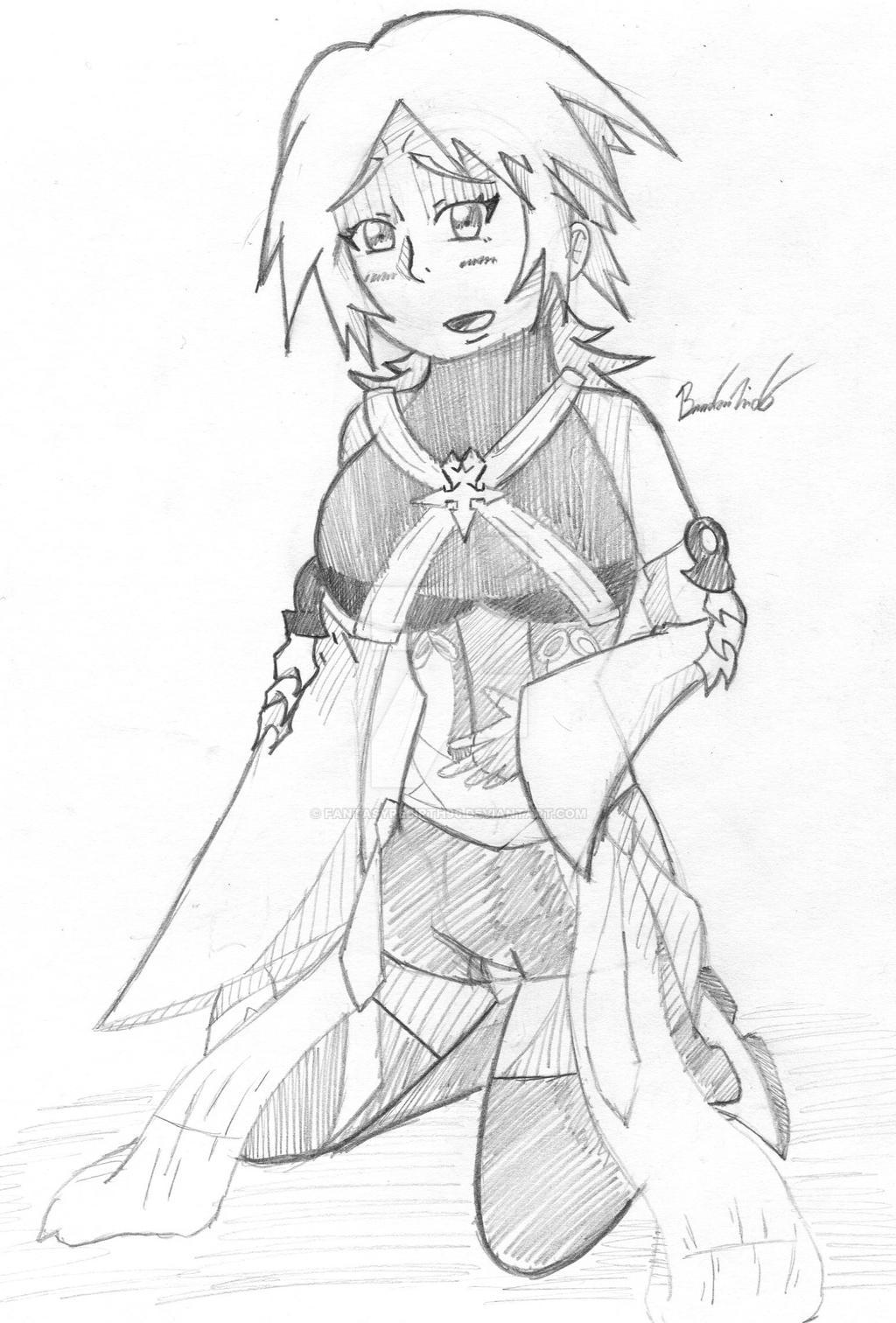 Aqua in pain sketch by FantasyRebirth96
