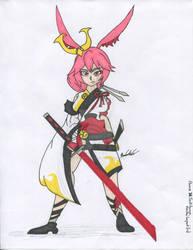 Flame Sakitama drawing