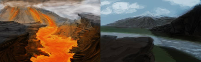 Landscape Paintings 09/09/13 by Jahnfo