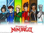 Ten years of Ninjago