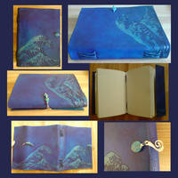 Handmade Leather Book - Ocean by alylovesu2