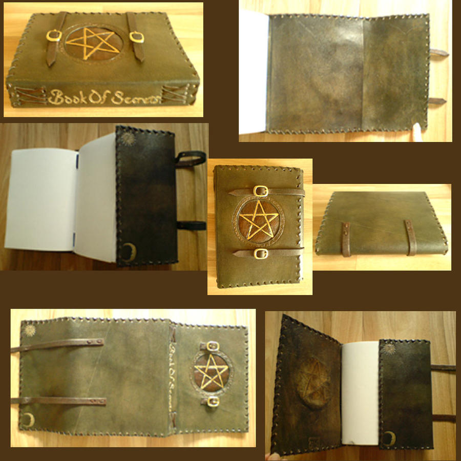Pentacle Handmade Leather Book by alylovesu2