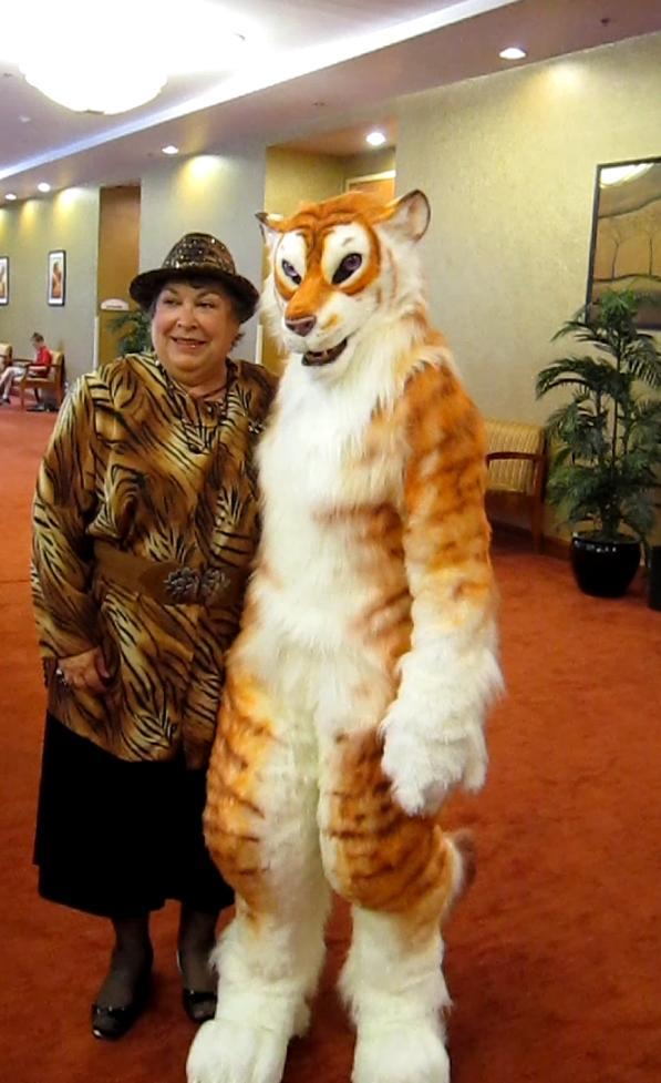Realistic tiger costume