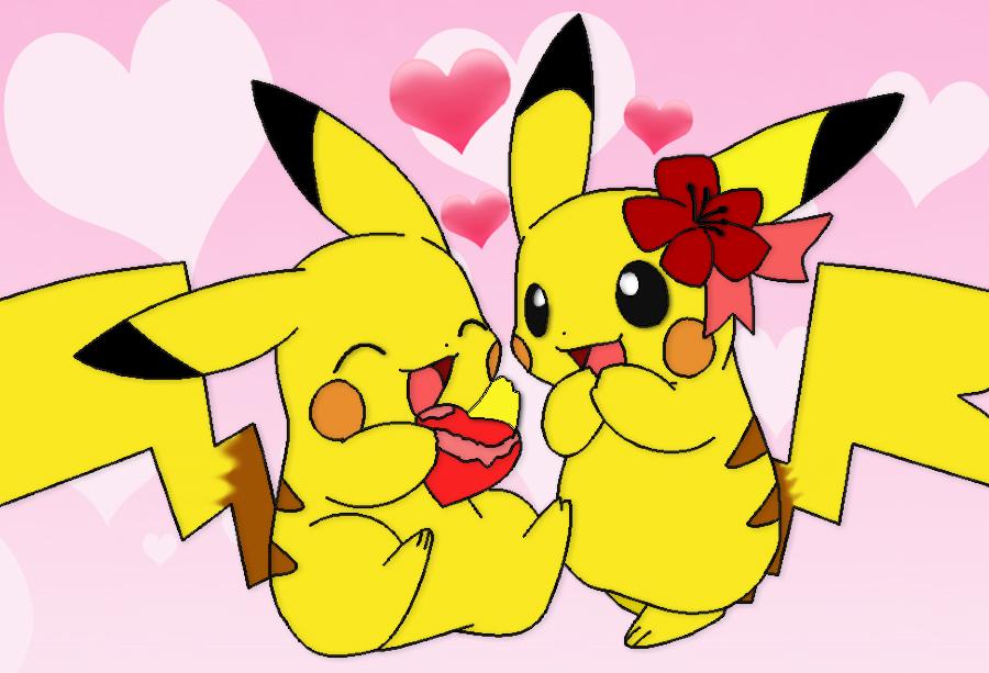 cute pikachu couple pokemon - photo #12