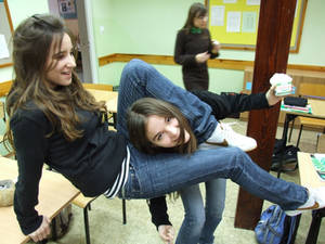 Two crazy girls :P