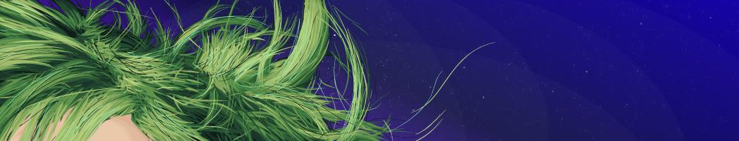 Green hair piece by keyzpoof