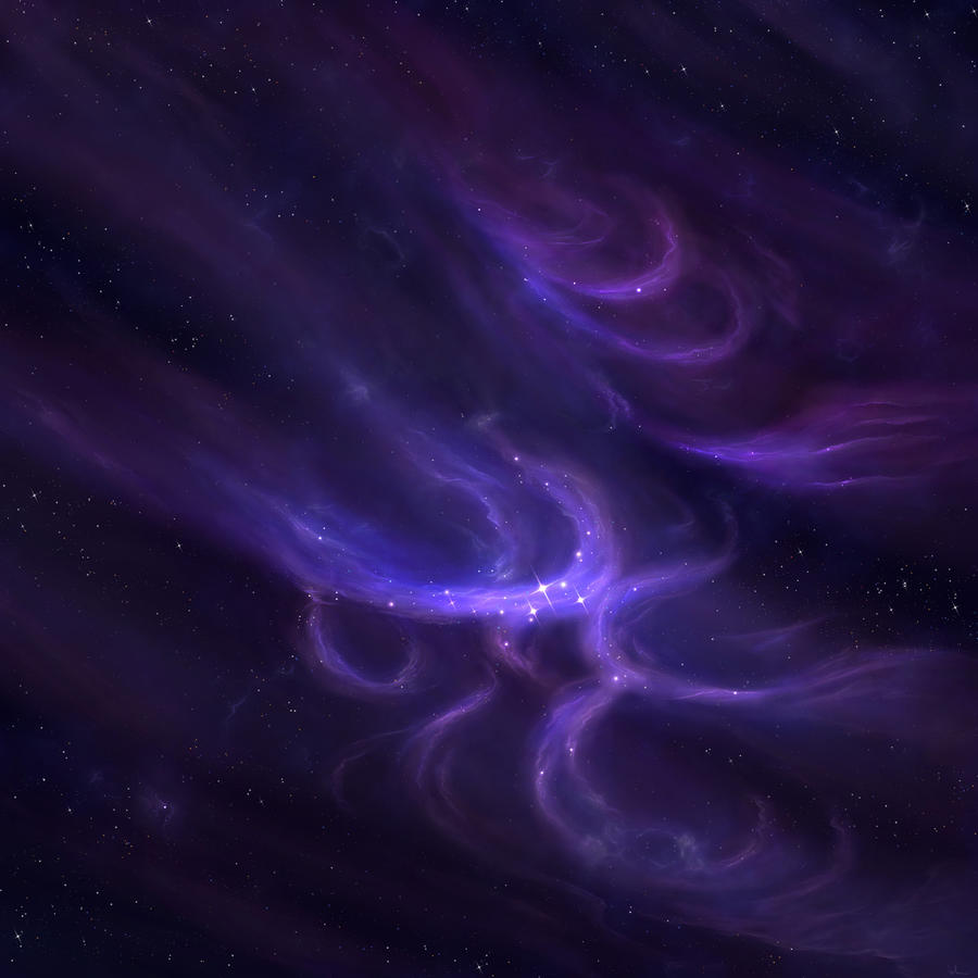Purple-Pinkish Nebula