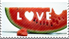 Love watermelon stamp by DennisAsh