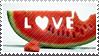 Love watermelon stamp by DennisAsh