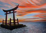 Sunset and Torii