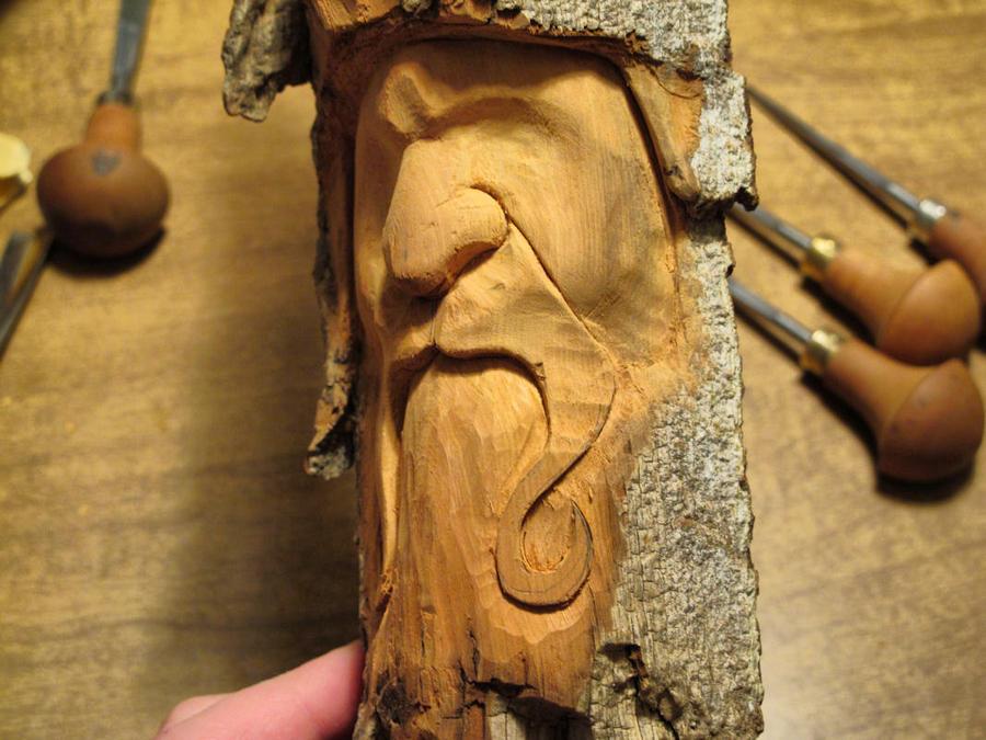 New wood spirit wip by riverotterwidget on deviantart