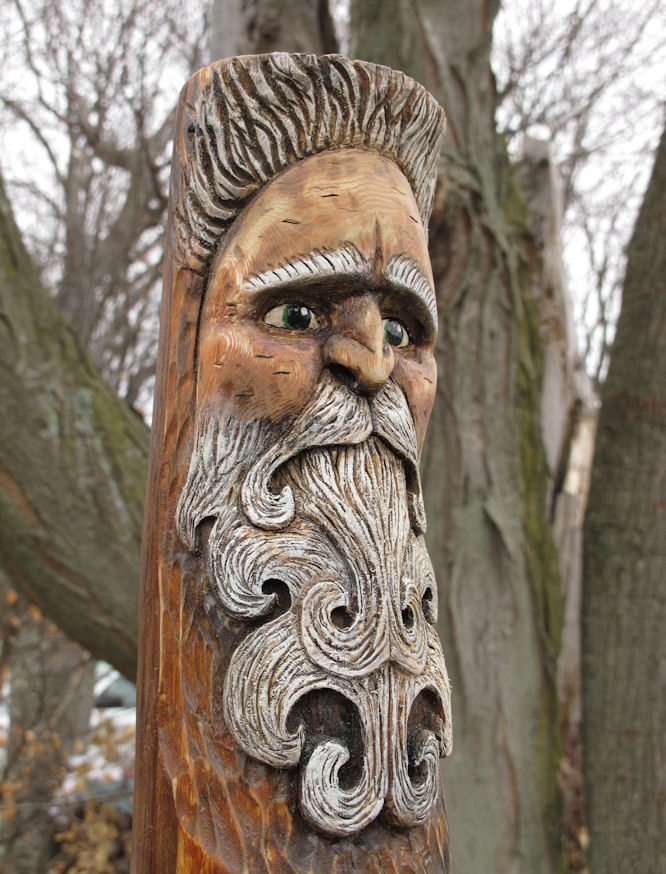 Wood spirit carving by riverotterwidget on deviantart