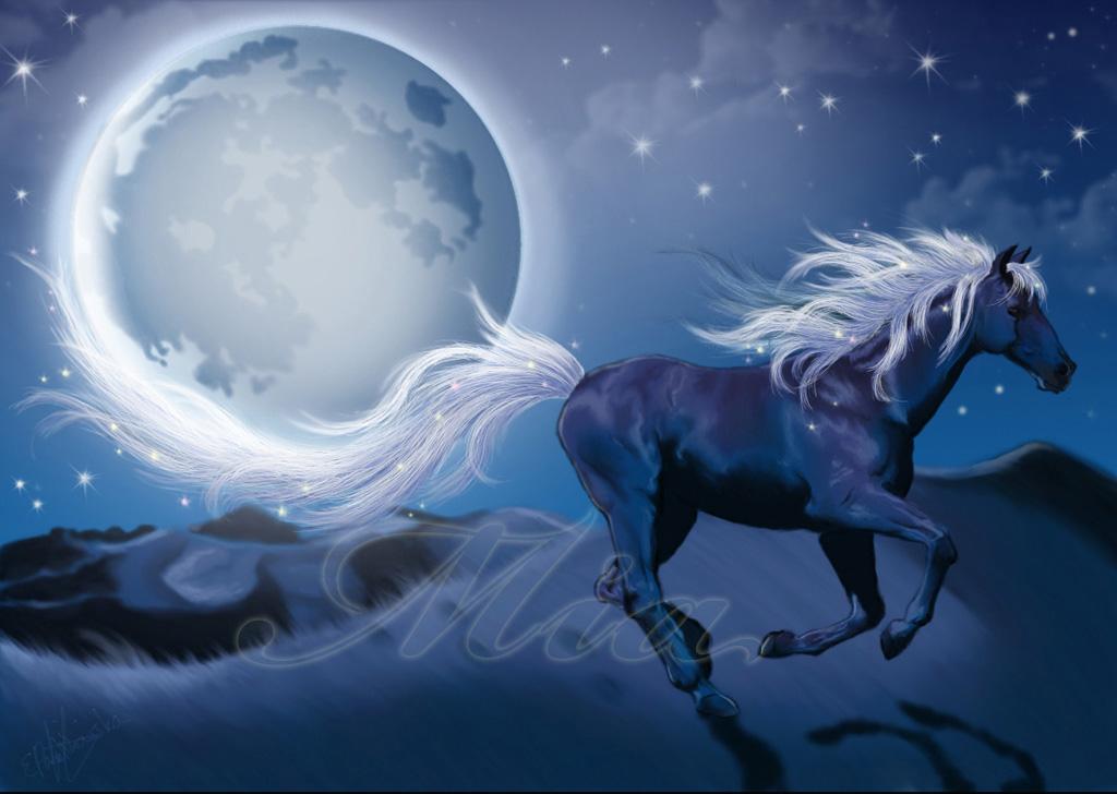 horse running painting